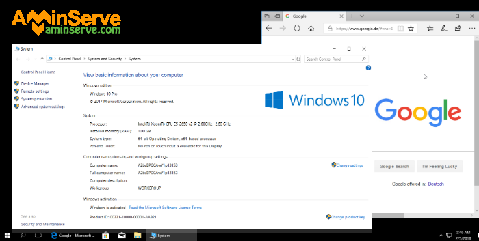Windows 10 remote desktop