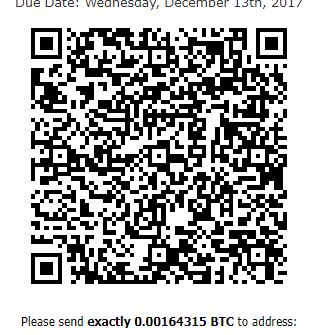 BitCoin invoice for RDP