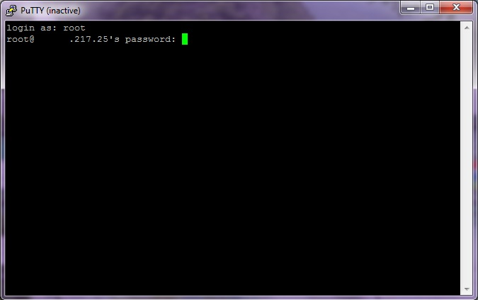 putty how to auto run type command